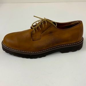 Tommy Hilfiger Brown Leather Lace Up Dress Shoe